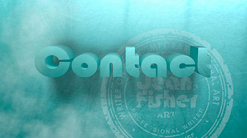 Contact Jean Fisher 3D Text