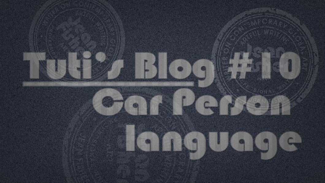 Car person language text on a fabric background