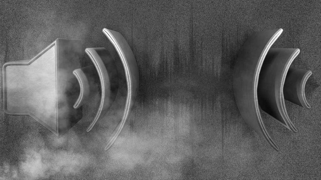 Sound wave with smoke